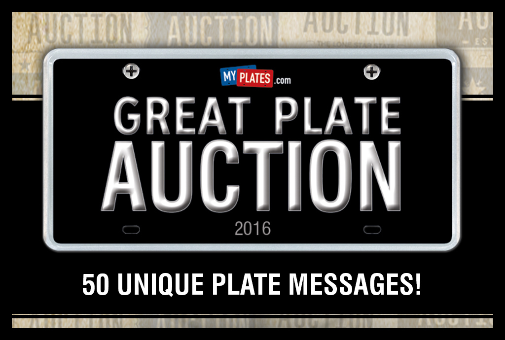 My Plates Great Plate Auction 2016: October 24 – November 30, 2016