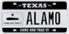 License Plate Message ALAMO