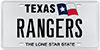 License Plate Message RANGERS