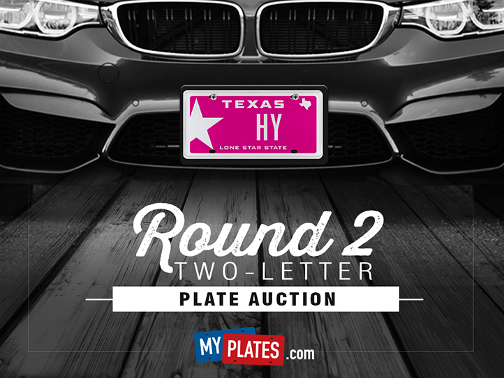 My Plates Two-Letter Auction Round 2: February 15 – 25, 2016