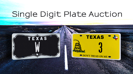 My Plates Single Digit Auction - 2019